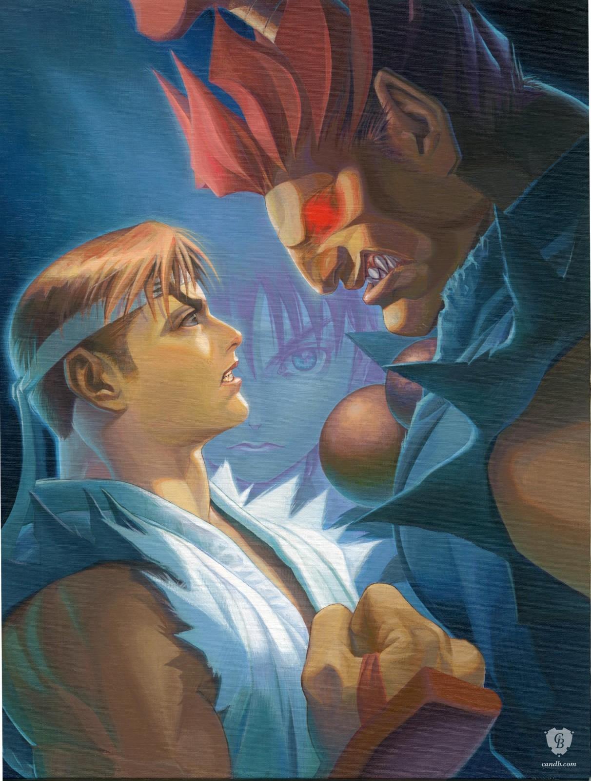 Artwork Ryu vs Akuma Capcom