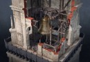 Antananarivo Bell Tower - Uncharted 4 - Players of Uncharted 4 seeing this \'Antananarivo Bell tower\' image, made by Naughty Dog's concept artist Nick Gindraux, will vividly remember climbing the tower's interior, and crushing it later on, in one of the most memorable scenes in gaming history. To properly deconstruct a bell tower in a video game, you need an intimate knowledge of its construction. To make it believable the concept and 3D modelling teams study properties of bells, construction beams, ropes and scaffolding. Hence this construction image, drawn for the purpose of informing Naughty Dog's teams on the properties of the Madagascar bell tower. Without it, the bell tower scene wouldn't have been as memorable as it is today.