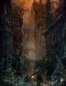 Old Yharnam - Bloodborne - Old Yharnam is een officieel concept artwork voor de PlayStation video game Bloodborne van FromSoftware en regisseur Hidetaka Miyazaki. Deze Certified Art Giclee is een hand-genummerde\nlimited edition waarin het FromSoftware logo gepreegd is.