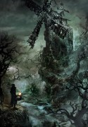 Forbidden Woods - Forbidden Woods is an official concept artwork for the PlayStation video game Bloodborne by FromSoftware and game director Hidetaka Miyazaki. This certified art giclee print is a hand-numbered limited edition embossed with the FromSoftware logo.