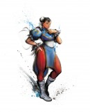 Chun-Li Street Fighter IV - This image of game character Chun-Li has been made for the promotion of Street Fighter IV. The Japanese brush art style is characteristic for the entire art direction of the Street Fighter IV game and is used both in-game as well as for the promotional imagery.
