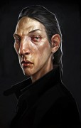Female Thug Portrait 1 - Dishonored 2 - Female Thug Portrait 1 is official concept artwork used by Arkane Studios for Dishonored 2. This limited edition Certified Art Giclee™ print is part of the official Dishonored 2 fine art collection by Cook & Becker and Bethesda Softworks. The print is hand-numbered and comes with a Certificate of Authenticity signed by artist Cedric Peyravernay.