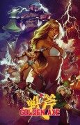 Golden Axe - Golden Axe is an official limited edition print drawn by artist Gerald Parel based on the classic SEGA game series Golden Axe™. Gerald Parel made this print for Cook & Becker and SEGA using the original games\' designs, logo\'s etc. from the SEGA archives as inspiration. This Certified Art Giclee has a paper size of 24 x 36\