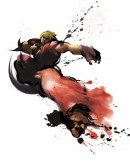 Ken Street Fighter IV - This image of game character Ken has been made for the promotion of Street Fighter IV. The Japanese brush art style is characteristic for the entire art direction of the Street Fighter IV game and is used both in-game as well as for the promotional imagery.