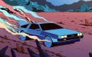 Delorean - Swedish artist Kilian Eng (DW Design) has a unique style and visual language that is sometimes described as retro futuristic. The artwork Delorean is an original digital art print by Kilian Eng. This Certified Art Giclee is signed and numbered and is part of an exclusive limited edition.