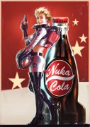 Nuka Cola 2 - Fallout 4 - Nuka Cola 2 is official concept artwork used by Bethesda Game Studio\'s for Fallout 4. The image was made by Senior Concept Artist John Gravato. This limited edition Certified Art Giclee print is part of the official Fallout 4 fine art collection by Cook & Becker and Bethesda Softworks. The print is hand-numbered and comes with a Certificate of Authenticity signed by the artist.