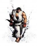 Ryu Street Fighter IV - This image of game character Ryu has been made for the promotion of Street Fighter IV. The Japanese brush art style is characteristic for the entire art direction of the Street Fighter IV game and is used both in-game as well as for the promotional imagery.