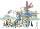 Sky Pirates - Ni no Kuni II - Sky Pirates is officiële concept art voor de role-playing video game Ni no Kuni II: Revenant Kingdom. De game is ontwikkeld door Japanse studio Level-5 in samenwerking met animatiestudio Ghibli, met character designs door Yoshiyuki Momose. Deze limited edition Certified Art Giclee print maakt deel uit van de officiële Ni no Kuni II: Revenant Kingdom fine art collection van Cook & Becker en Level-5. De print is handgenummerd en wordt geleverd met een Certificaat van Echtheid.