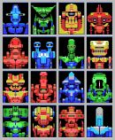 MSX Robots - The Faces series is typical of the work of German artist Sven Ruthner (1980), who has received international appreciation for his pixel art. Ruthner frequently limits himself to the very limited color palettes from the early days of the personal computer, such as CGA, EGA and ZX Spectrum color palettes.