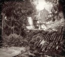 The Colony - Uncharted 4 - The pirates' colony found by Nathan Drake in Uncharted 4 was carefully brought to life by the Naughty Dog team. Color and black-and-white shots of the colony, like this detailed sketch by Naughty Dog artist Robh Rupel, established the look and feel of the village and explored possible spaces like dilapidated taverns and houses, and exotic props like abandoned loot (note the clock in the middle), casks of whiskey et cetera.\nAlso, the artists established a sense of time in this newly made digital world: nature has reclaimed the structures, toppled them or made them indistinguishable from the surrounding jungle – time clearly had its way with the scene. From sketches like these, the scene was modelled in 3-D, lit, and then final painting was done on top of the 3-D models before the colony could exist in Uncharted 4.