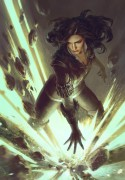 Yennefer: The Summoner - Witcher 3 - Yennefer: The Summoner is an official artwork for the world of The Witcher and the Witcher card game GWENT, video games created by CD PROJEKT RED. The artist that made this image is Anna Podedworna. This limited edition Certified Art Giclee™ print is part of the official The Witcher fine art collection by Cook & Becker and CD PROJEKT RED. The print is hand-numbered and comes with a Certificate of Authenticity signed by the artist.\n