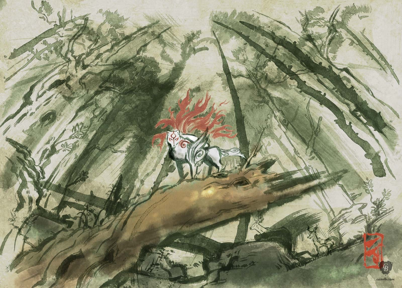 Kunstwerk Agata Forest Okami Capcom