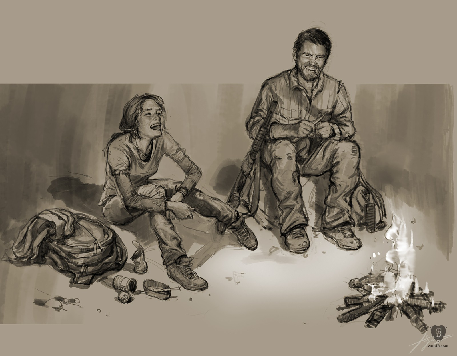 Around The Campfire Art