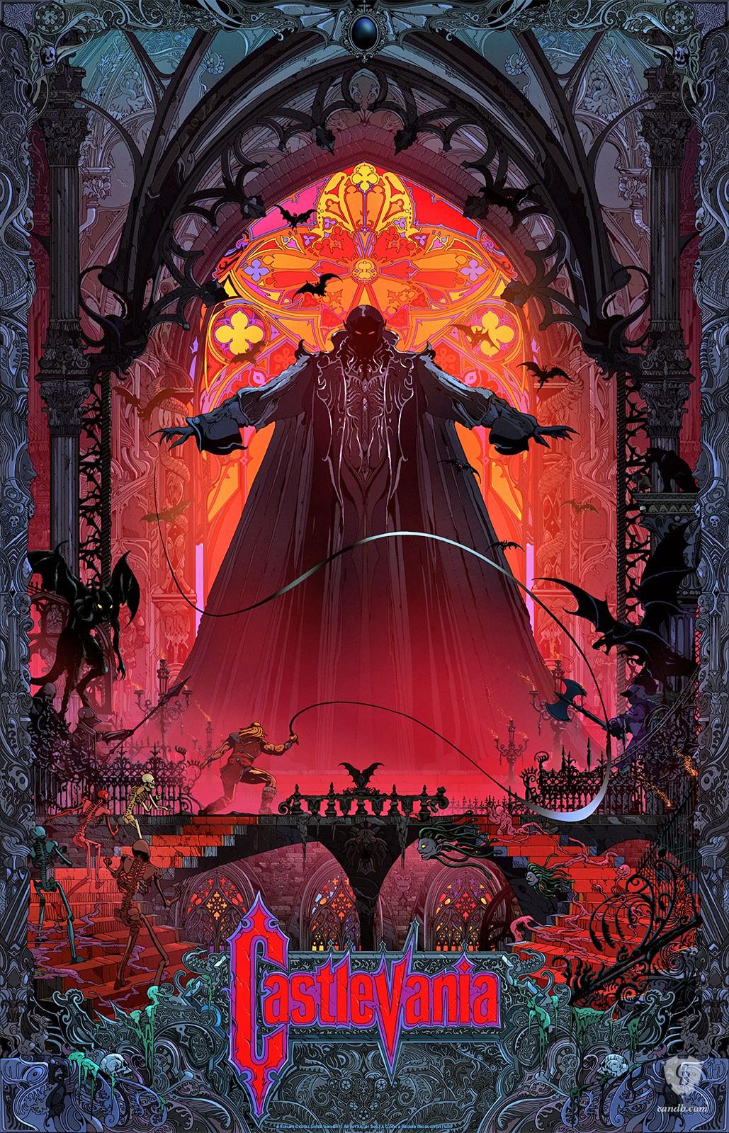 Kunstwerk Castlevania Konami