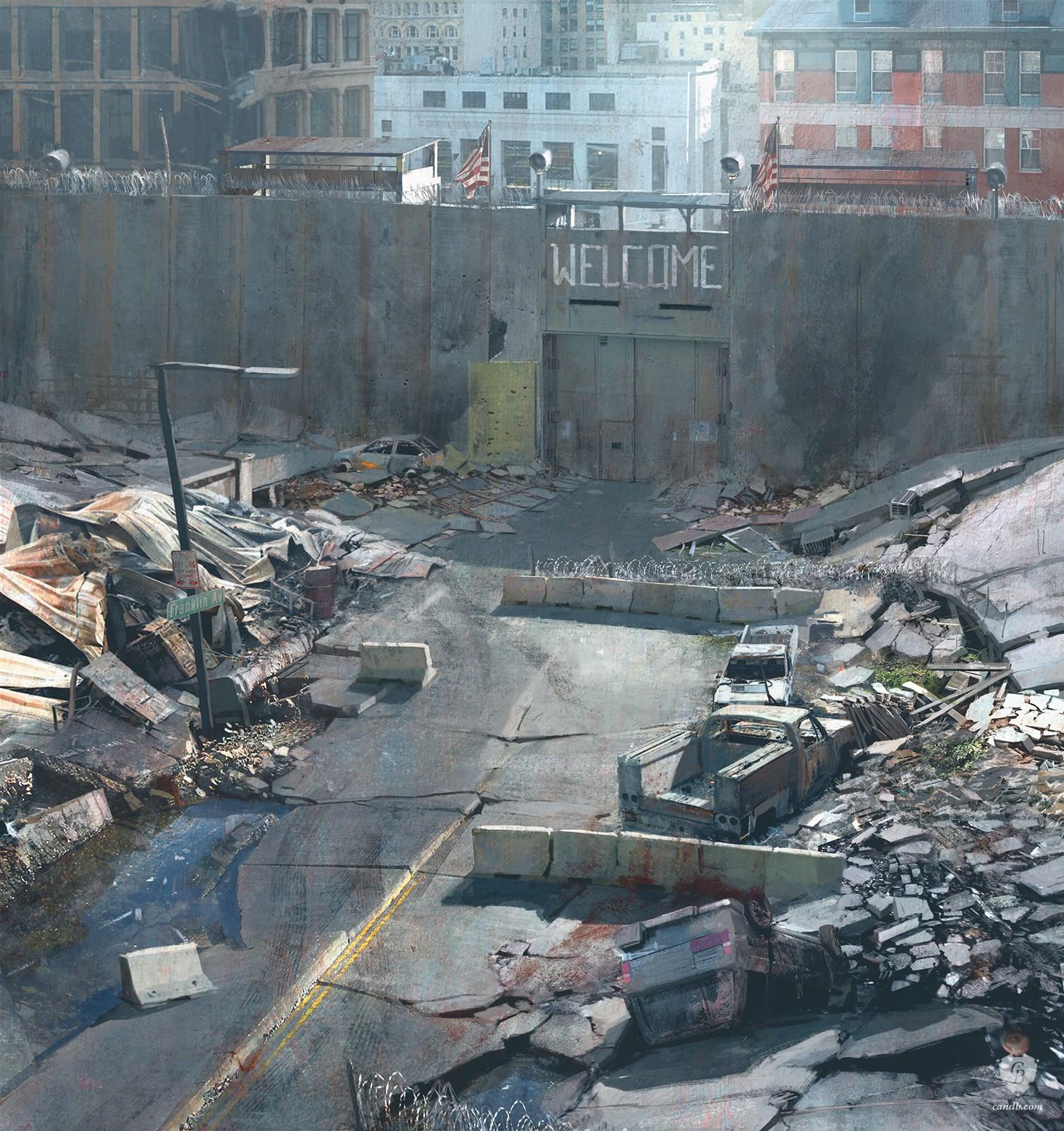 Artwork City Gate Naughty Dog