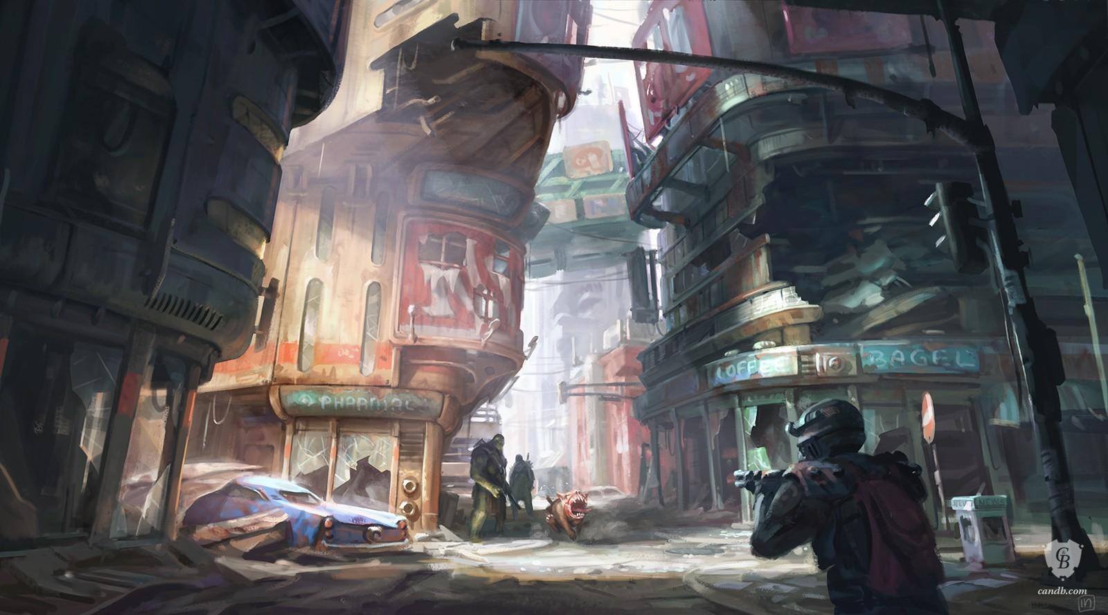 Les artworks qui vous font vibrer (JV) Downtown-financial-district_fallout4_bethesda_1600x889_marked