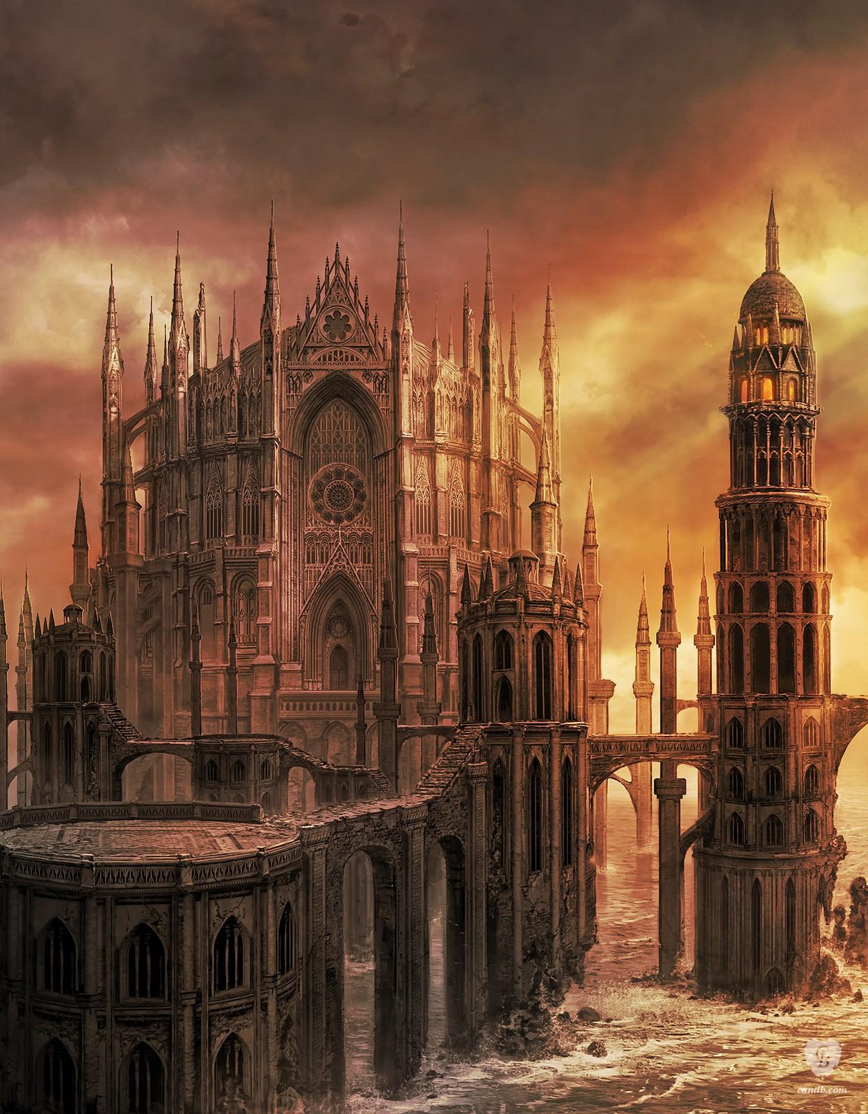 Artwork heide 39 s tower of flame dark souls ii fromsoftware for Castle design software