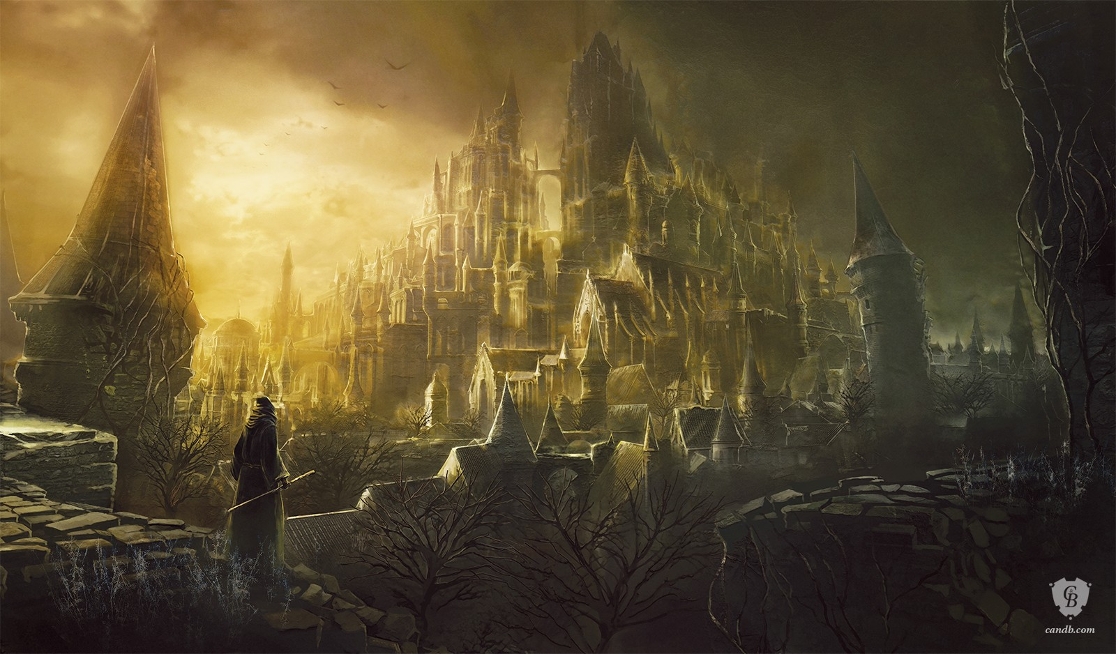 Image of: Dark Souls High Wall Of Lothric Dark Souls Iii High Wall Of Lothric Is Officiële Concept Cook Becker Kunstwerk High Wall Of Lothric Dark Souls Iii Fromsoftware