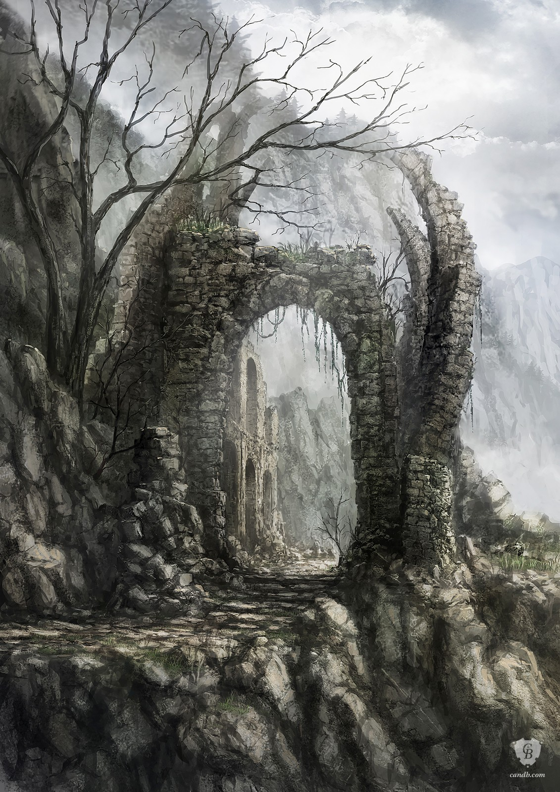 Image of: Art Appreciation Majula Gate Dark Souls Ii Majula Gate Is Officiële Concept Art Voor De Video Gamingnationnl Kunstwerk Majula Gate Dark Souls Ii Fromsoftware