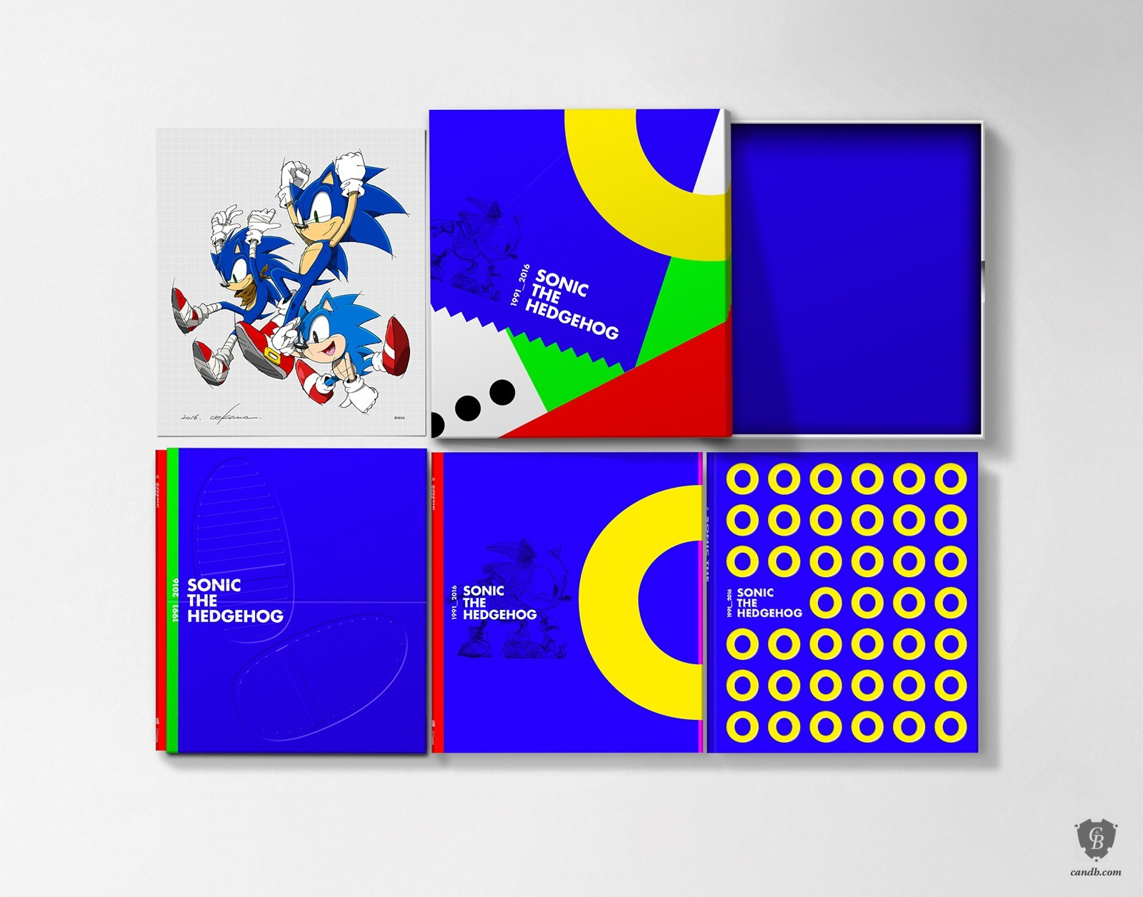 artwork sonic the hedgehog 25th anniversary art book collector u0027s