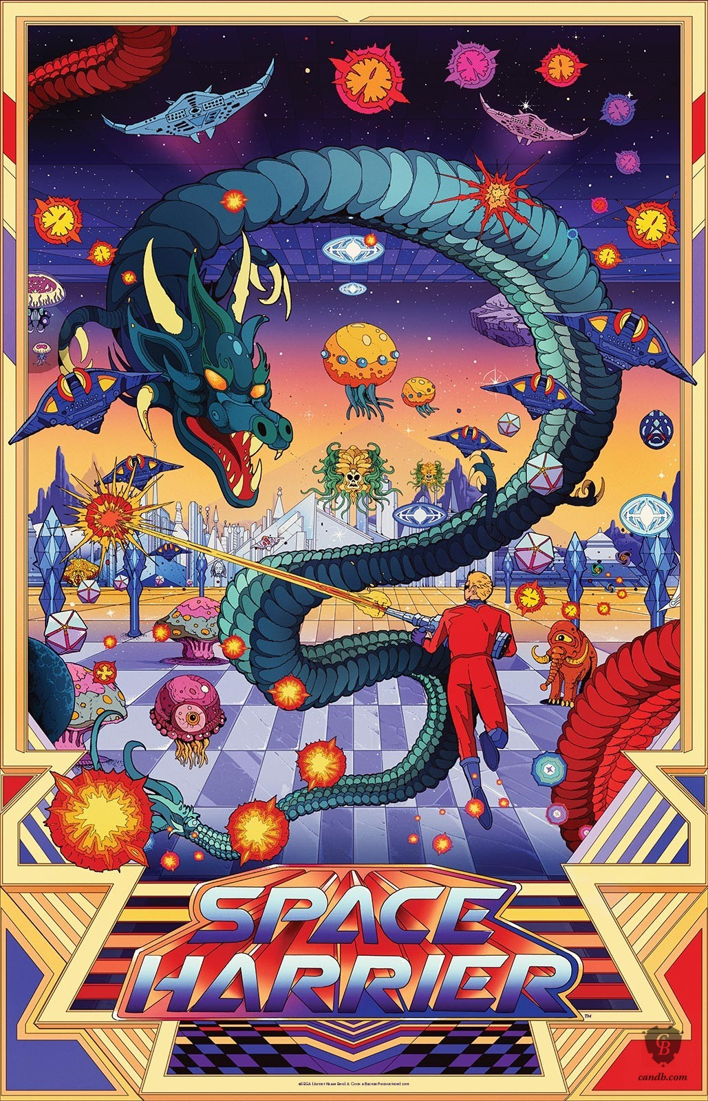 Artwork Space Harrier Sega