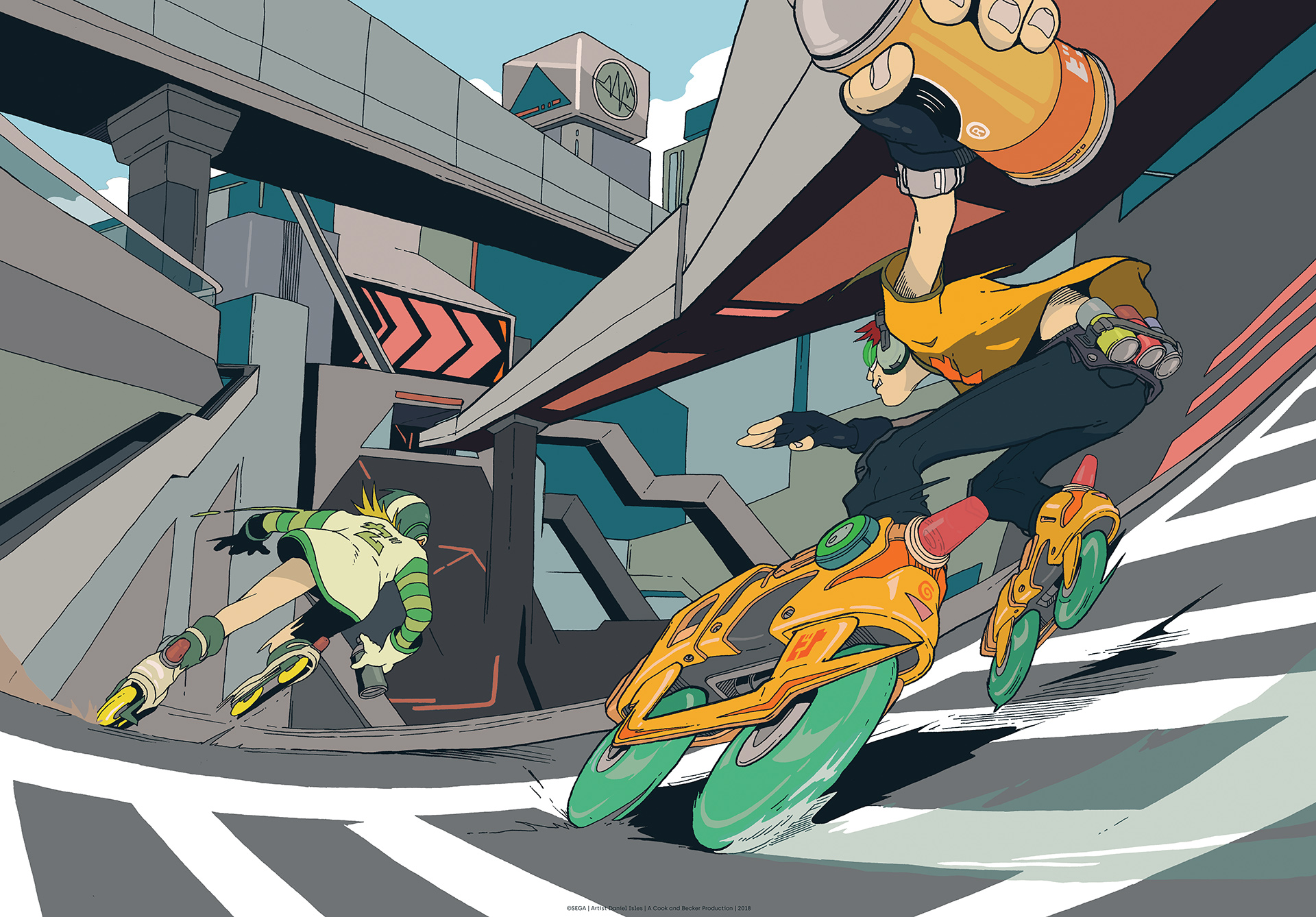 Artwork Jet Set Radio 2018 Jet Set Radio Daniel Isles Cook