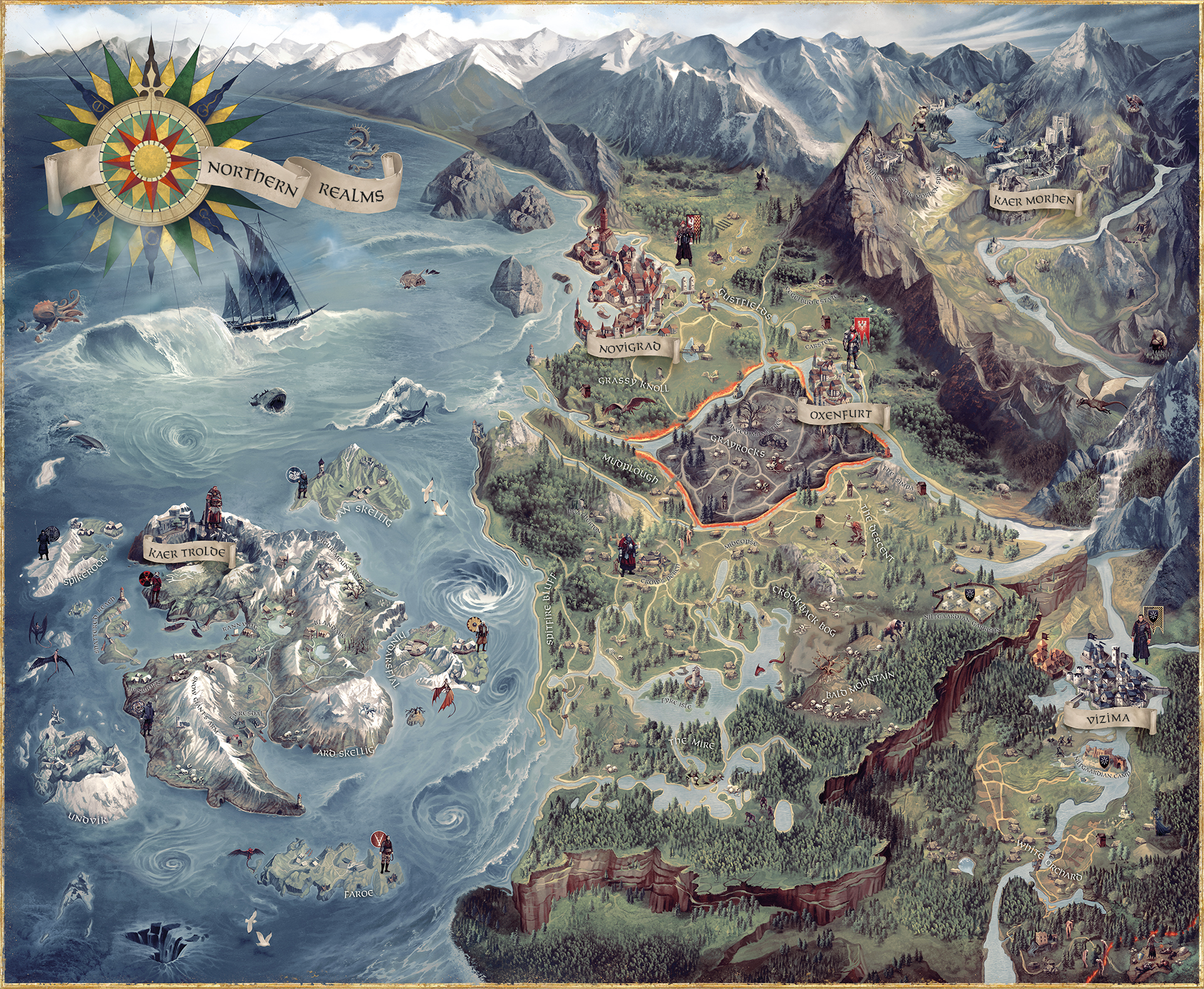 Kunstwerk The Witcher 3 World Map | The Witcher 3 | CD Projekt Red